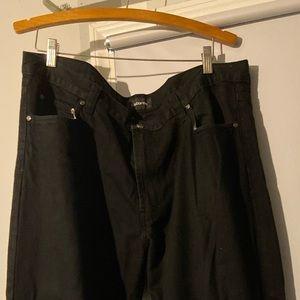 MENS CLAIBORNE BLACK JEANS 40x30